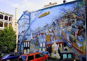 olde city mural santoleri